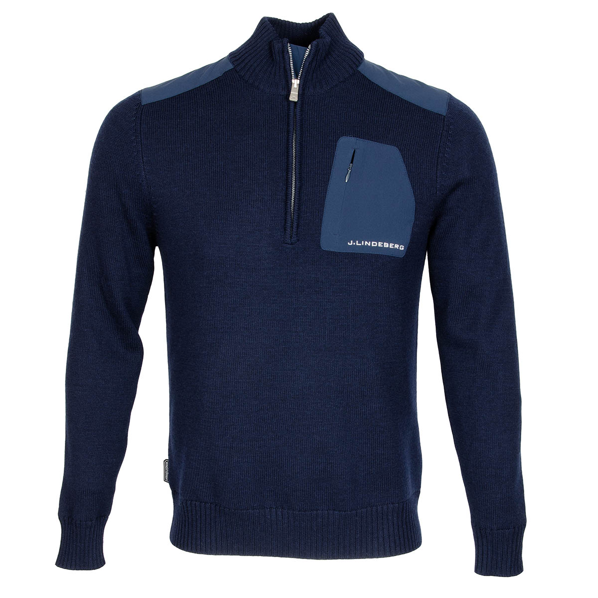 J Lindeberg Windstopper Knitted Sweater Navy/Purple ...