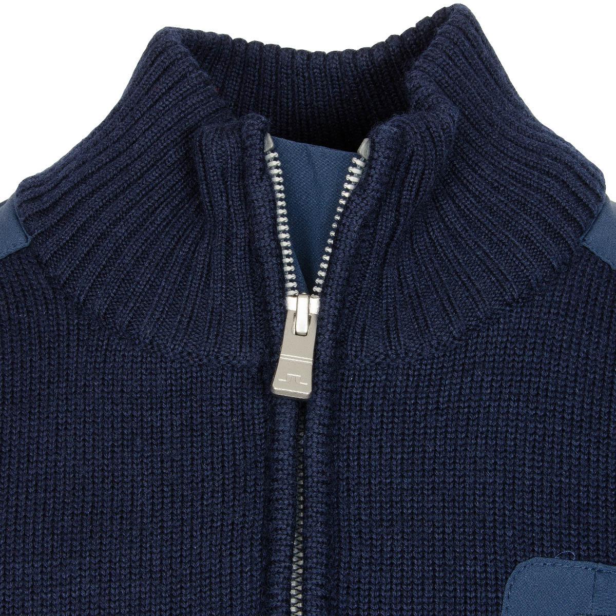 Knitting Patterns For Golf Jumpers : J Lindeberg Windstopper Knitted Sweater Navy/Purple Scottsdale Golf