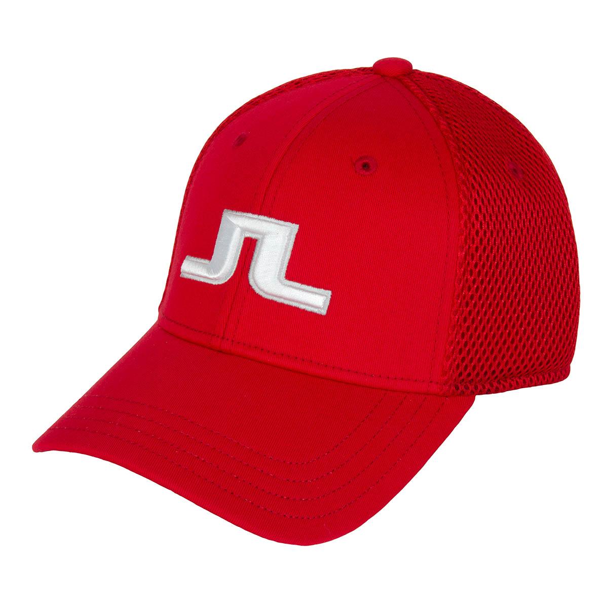 J Lindeberg Bon Flexi Twill Cap Red Intense  dbf136ae7196