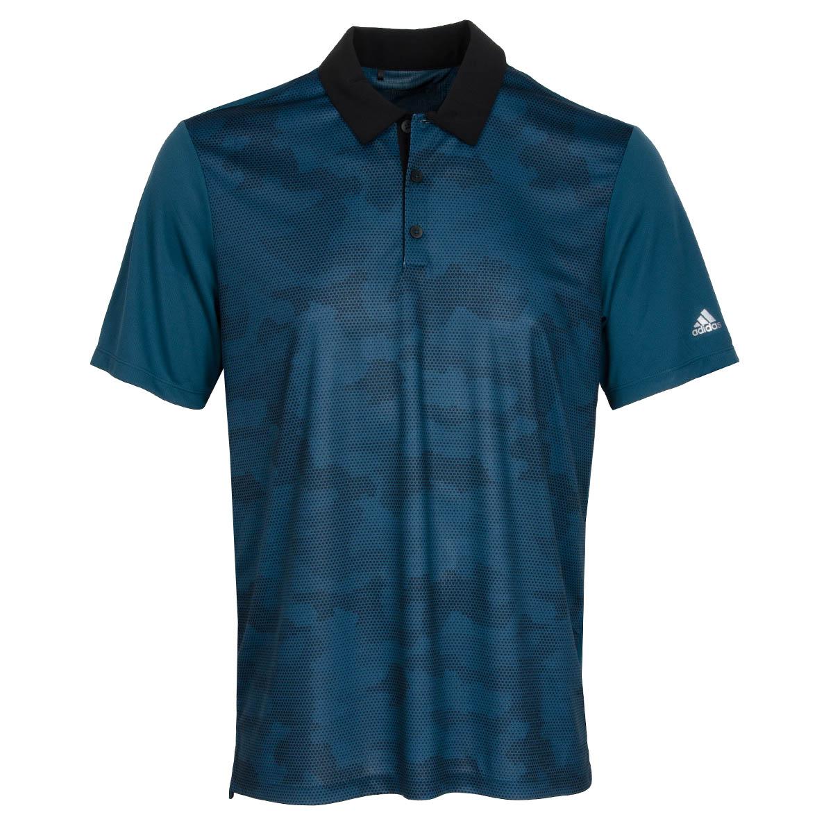 Adidas Climachill Dot Camo Polo Shirt Utility Green