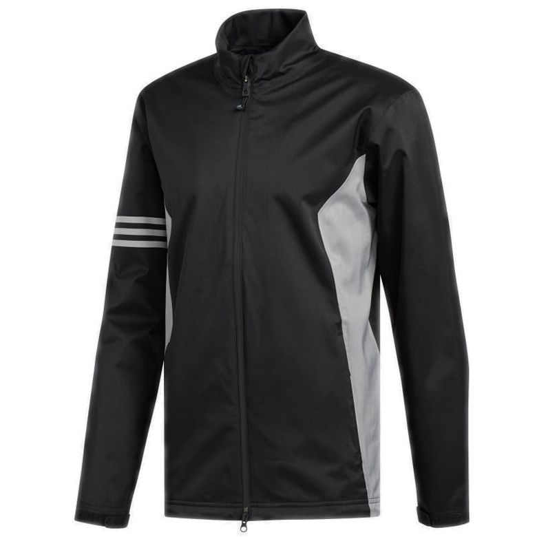 adidas climaproof wasserdicht golfjacke schwarz / graue scottsdale golf
