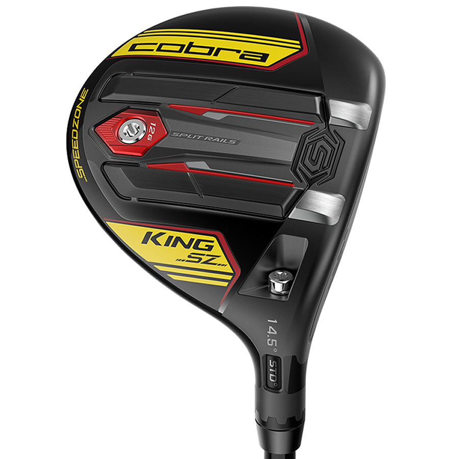 Cobra KING Speedzone Golf Fairway Gloss Black/Yellow