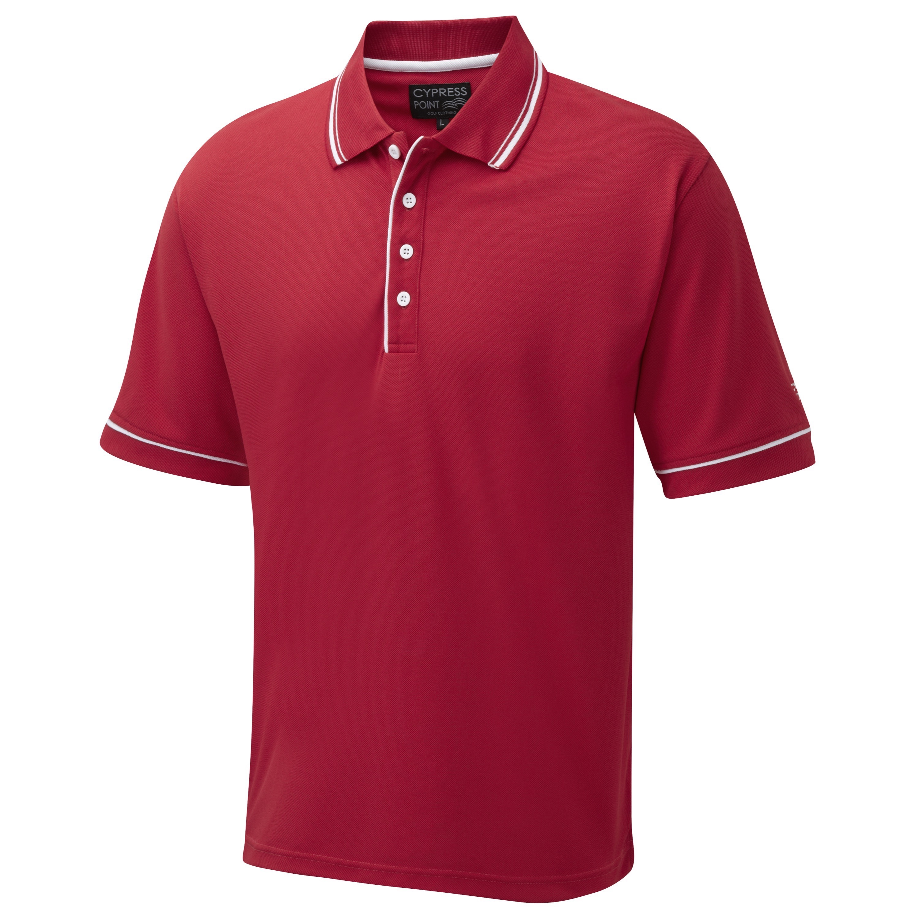 Cypress point classic polo shirt red scottsdale golf for Name brand golf shirts