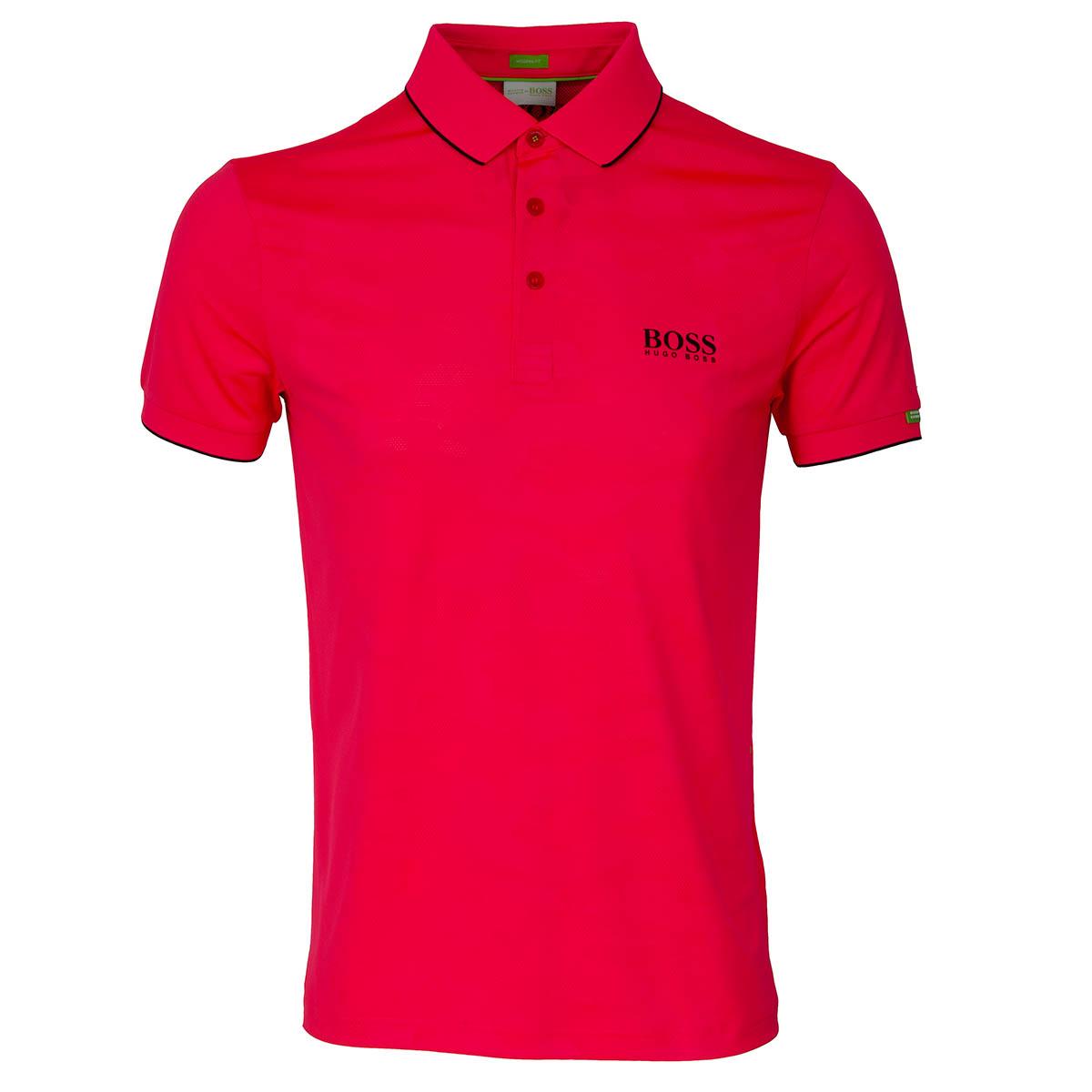 fce0e3087e8e39 BOSS ATHLEISURE Paddy MK 2 Polo Shirt Bright Pink | Scottsdale Golf