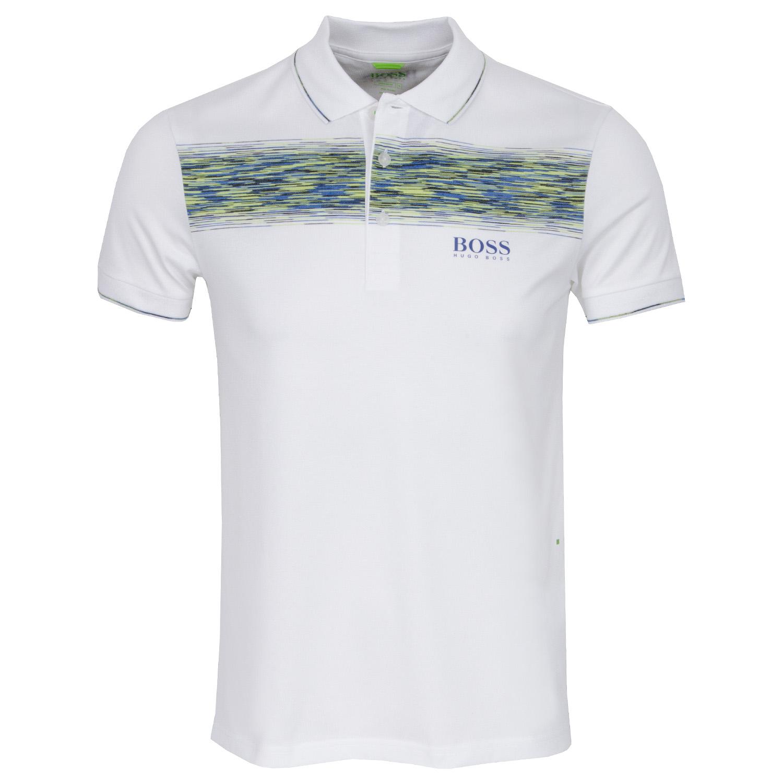 877ca13a BOSS ATHLEISURE Paddy Pro 4 Polo Shirt White | Scottsdale Golf
