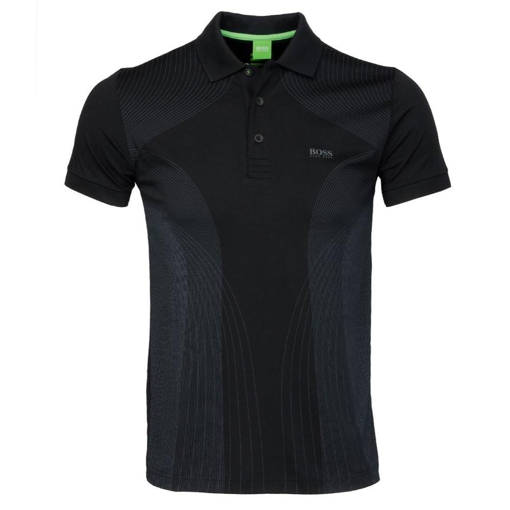 Hugo Boss Parsu Polo Shirt Black Scottsdale Golf