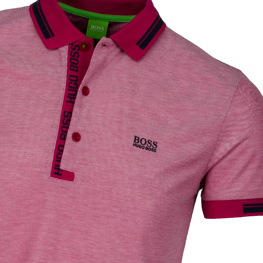 hugo boss paule 4 polo shirt medium pink scottsdale golf. Black Bedroom Furniture Sets. Home Design Ideas