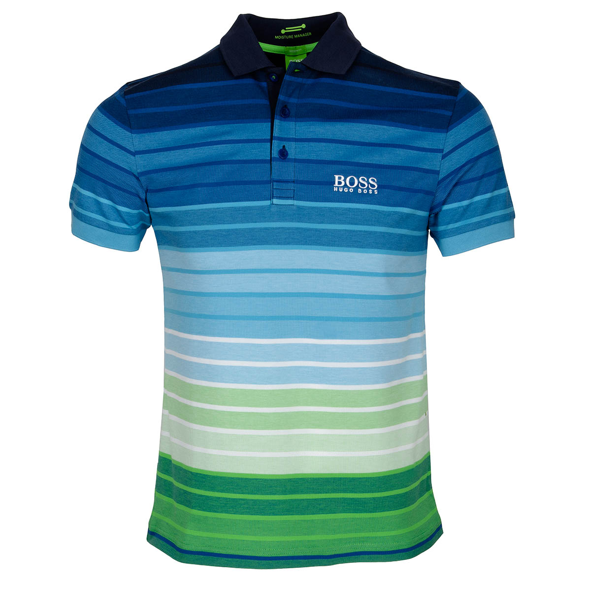 boss green paddy pro 1 polo shirt blue white green. Black Bedroom Furniture Sets. Home Design Ideas