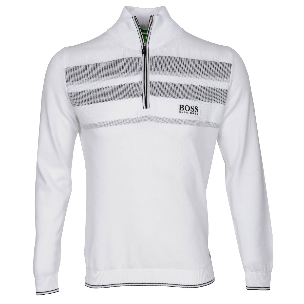hugo boss zelchior pro zip neck sweater white scottsdale golf. Black Bedroom Furniture Sets. Home Design Ideas
