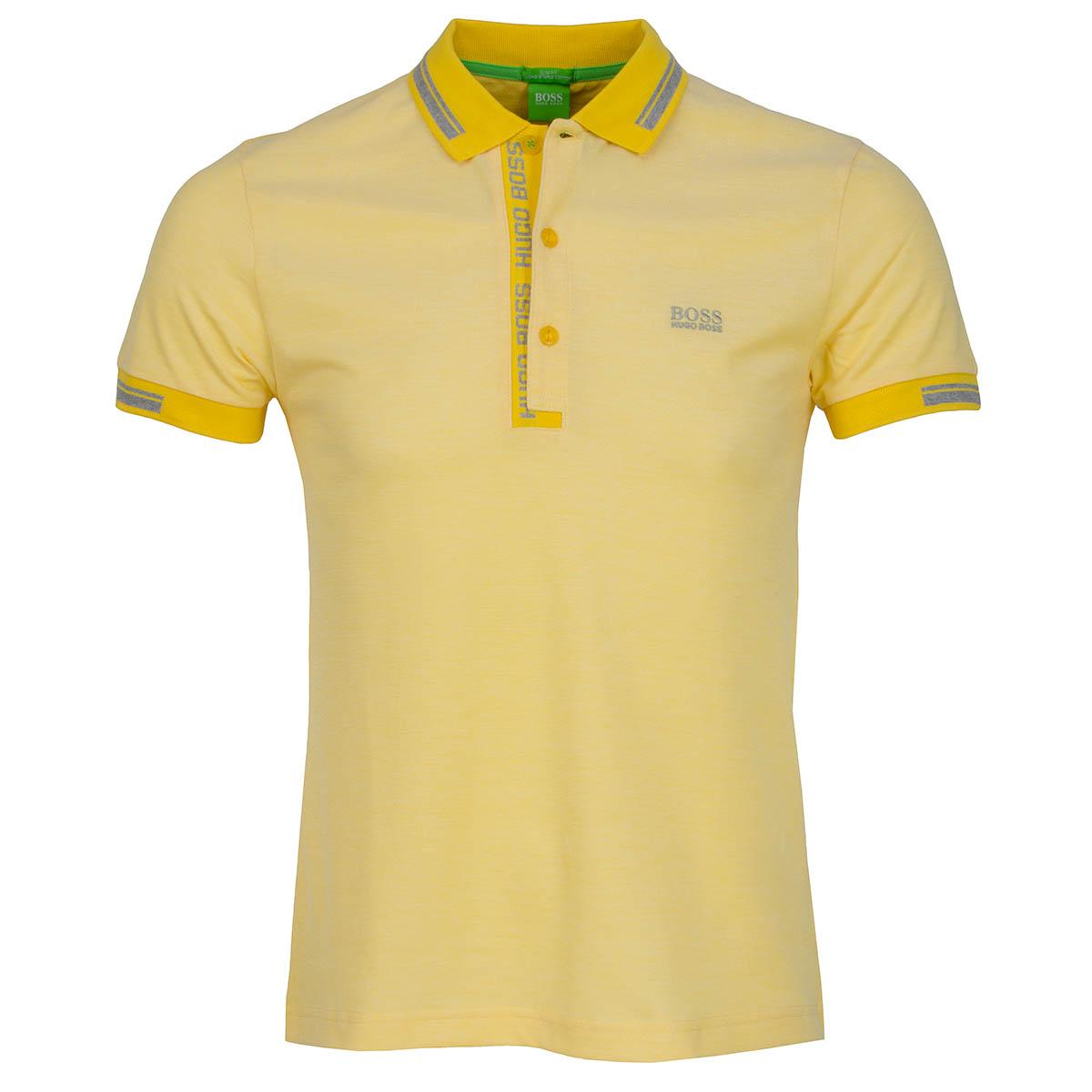 Boss green paule 4 polo shirt bright yellow scottsdale golf for Yellow golf polo shirts