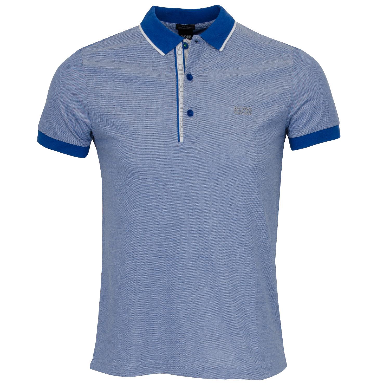 59ca6533e BOSS ATHLEISURE Paule 4 Polo Shirt Medium Blue SP18   Scottsdale Golf