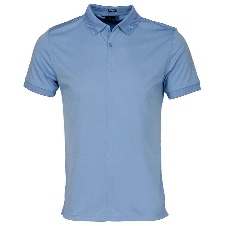 J lindeberg rex tx polo shirt light blue melange for Texas a m golf shirt