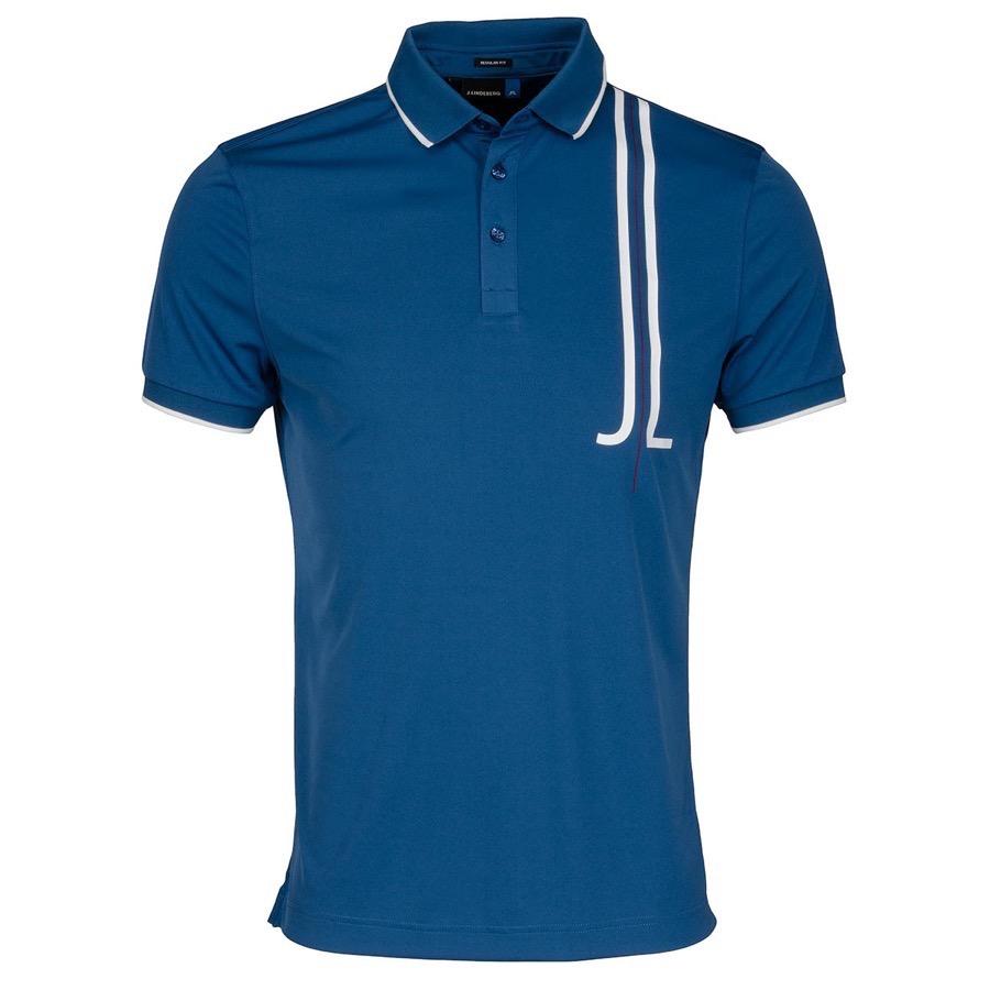 J lindeberg tyr tx polo shirt blue scottsdale golf for Texas a m golf shirt