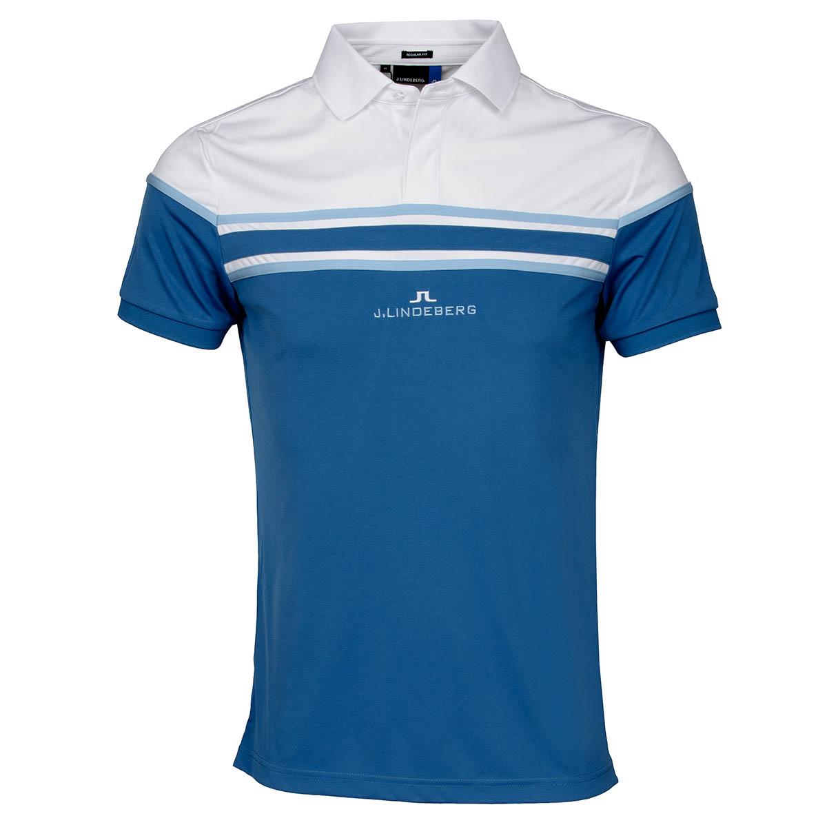 J lindeberg arkell tx polo shirt blue dust scottsdale golf for Texas a m golf shirt
