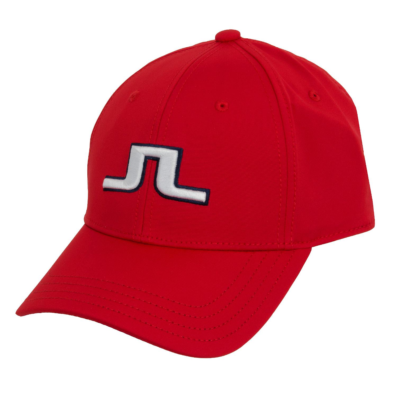 a8a46139615 J Lindeberg Angus Tech Stretch Cap Red Intense