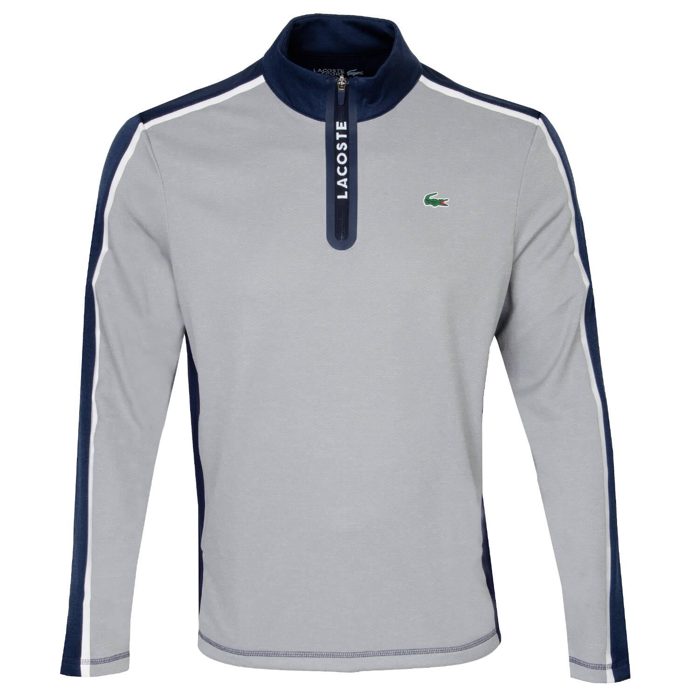 Image of Lacoste Colourblock Quarter Zip Sweater