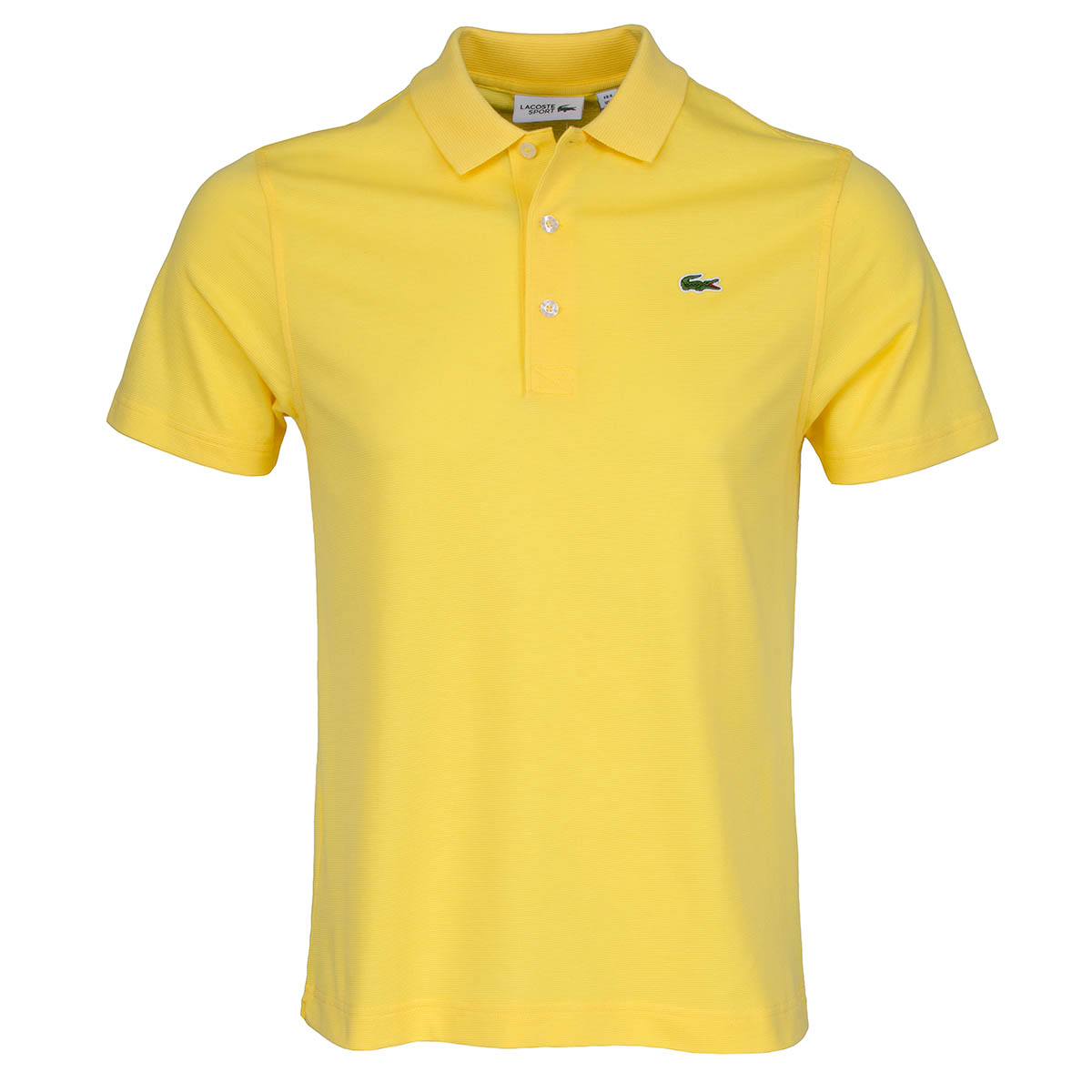 Lacoste sport polo shirt sunfire yellow scottsdale golf for Yellow golf polo shirts