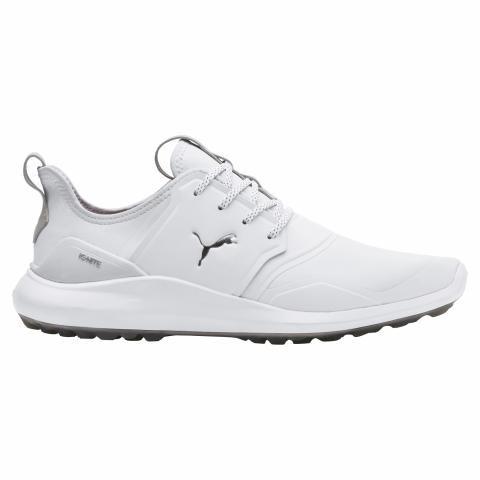39a57041496 Puma IGNITE NXT PRO Golf Shoes Puma White Puma Silver Gray Violet