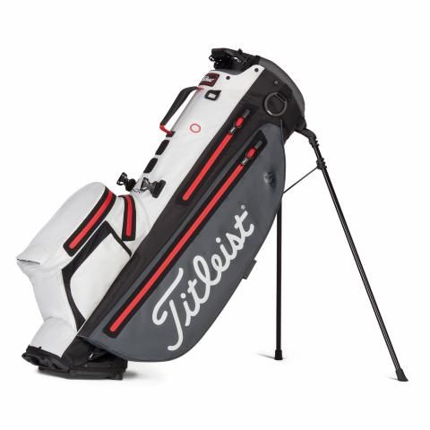 Titleist Players 4 Plus StaDry Waterproof Golf Stand Bag Charcoal/White/Red