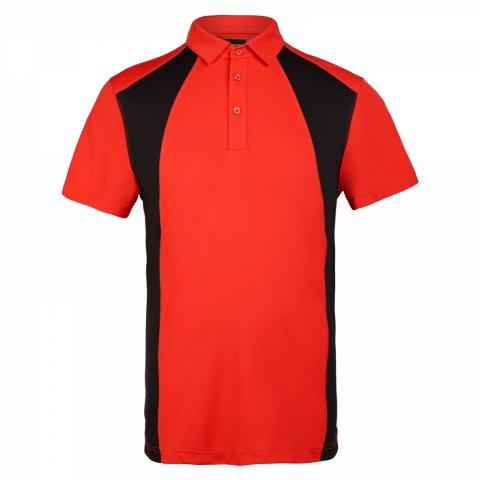 J lindeberg harlow cool wave tx polo shirt racing red 20th for Texas a m golf shirt