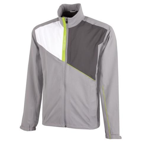 Galvin Green Apollo Gore-Tex Paclite Waterproof Golf Jacket Sharkskin/White/Iron