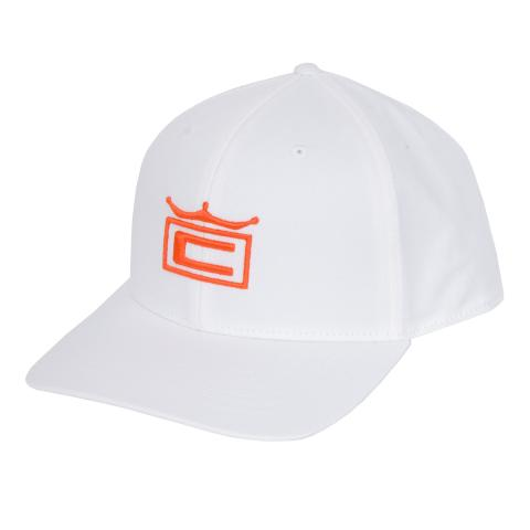 2986374855a Puma 2019 Tour Crown Snapback Cap White Vibrant Orange