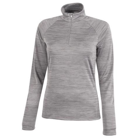 Galvin Green Dina Ladies Insula Zip Neck Pullover Light Grey
