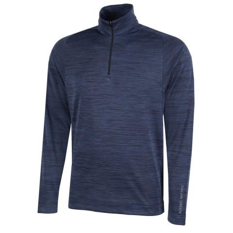 Galvin Green Dixon Insula Half Zip Sweater Navy