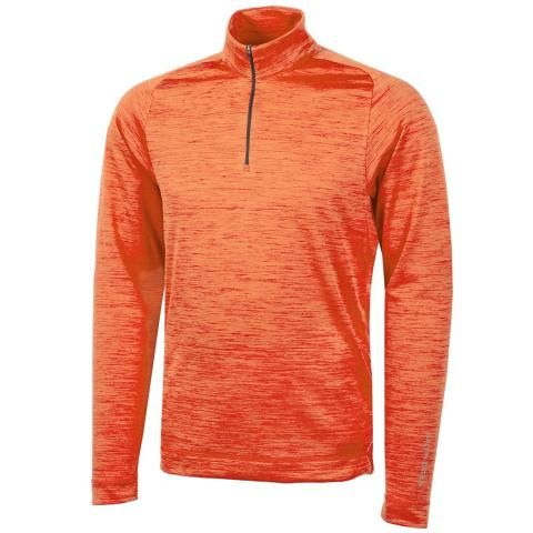 Galvin Green Dixon Insula Half Zip Sweater Red Orange