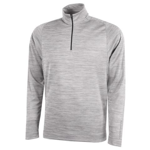 Galvin Green Dixon Insula Half Zip Sweater Light Grey