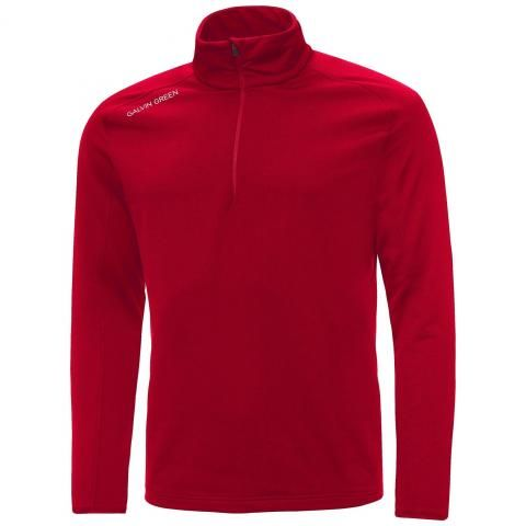 Galvin Green Drake Insula Half Zip Sweater Red