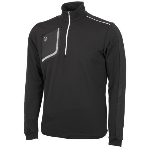Galvin Green Dwight Insula Half Zip Sweater Black/White