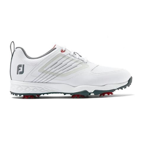FootJoy Junior Golf Shoes #45027 White/Silver