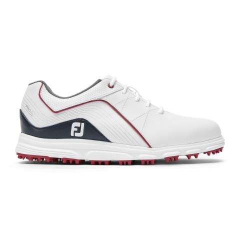 FootJoy Junior Golf Shoes #45028 White/Navy/Red