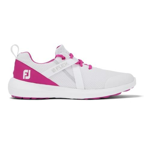 FootJoy FJ Flex Ladies Golf Shoes #95726 White/Rose