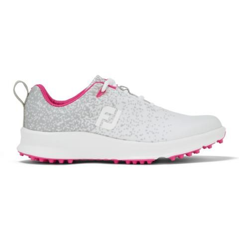 FootJoy FJ Leisure Ladies Golf Shoes #92926 Silver/White/Fuchsia