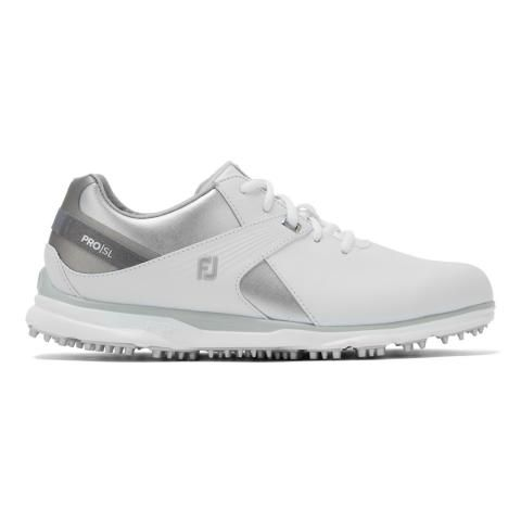 FootJoy Pro SL Ladies Golf Shoes #98114 White/Silver/Grey