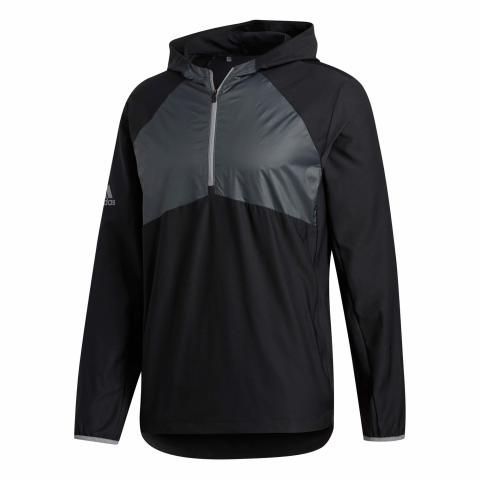 adidas Packable Zip Neck Windbreaker Black
