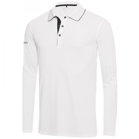 Galvin Green Marc Ventil8 Plus Long Sleeve Polo Shirt White/Black