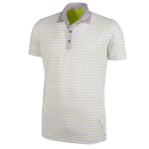 Galvin Green Mario Ventil8 Plus Polo Shirt White/Sharkskin/Lime