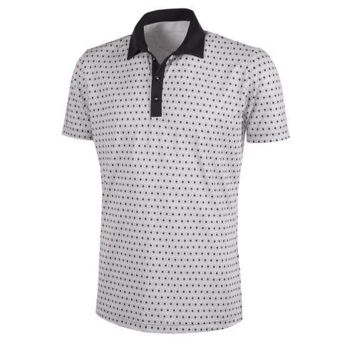 Galvin Green Mario Ventil8 Plus Polo Shirt Cool Grey/Sharkskin/Black