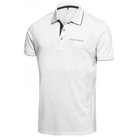 Galvin Green Marty Tour Edition Ventil8 Plus Polo Shirt White/Iron Grey