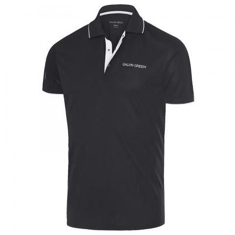 Galvin Green Marty Tour Edition Ventil8 Plus Polo Shirt Black/White