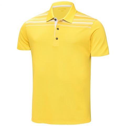 Galvin Green Melwin Ventil8 Plus Polo Shirt Lemon Chrome/White/Gold