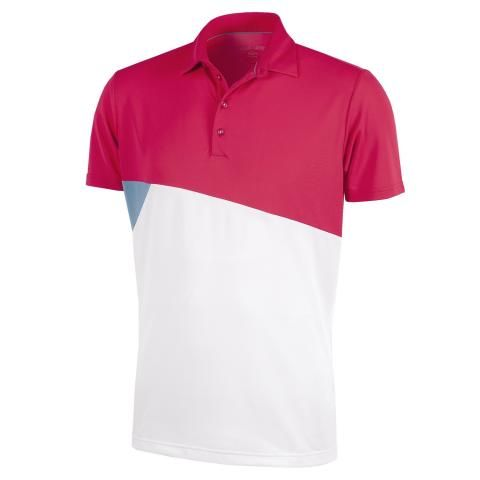 Galvin Green Mick Ventil8 Plus Polo Shirt Barberry/Faded Denim/White