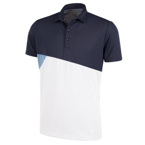Galvin Green Mick Ventil8 Plus Polo Shirt Navy/Faded Denim/White