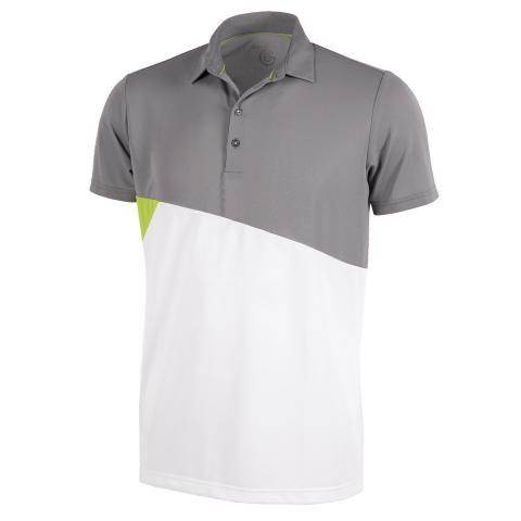 Galvin Green Mick Ventil8 Plus Polo Shirt Sharkskin/Lime/White