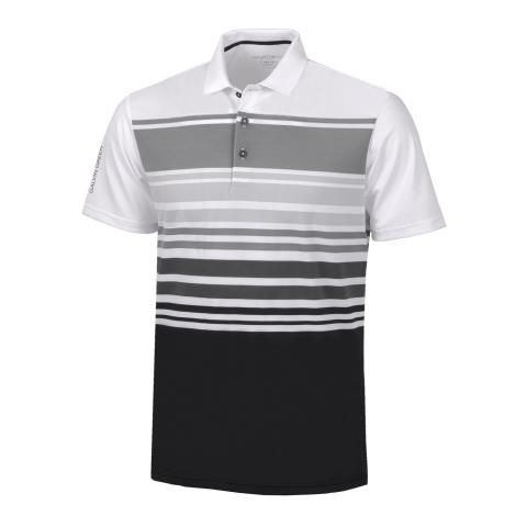 Galvin Green Miguel Ventil8 Plus Polo Shirt White/Sharkskin/Cool Grey/Black