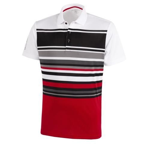 Galvin Green Miguel Ventil8 Plus Polo Shirt White/Red/Sharkskin