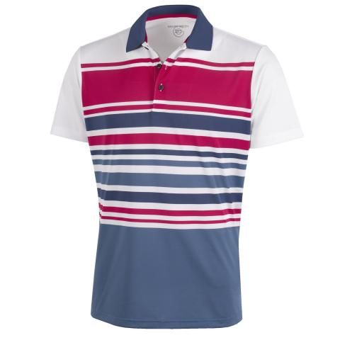Galvin Green Miguel Ventil8 Plus Polo Shirt White/Barberry/Faded